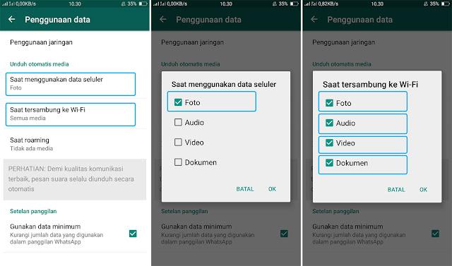 Setting WhatsApp Agar Tidak Mengunduh Foto