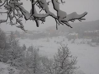 Campo di Giove con la neve. 5 gennaio 2017