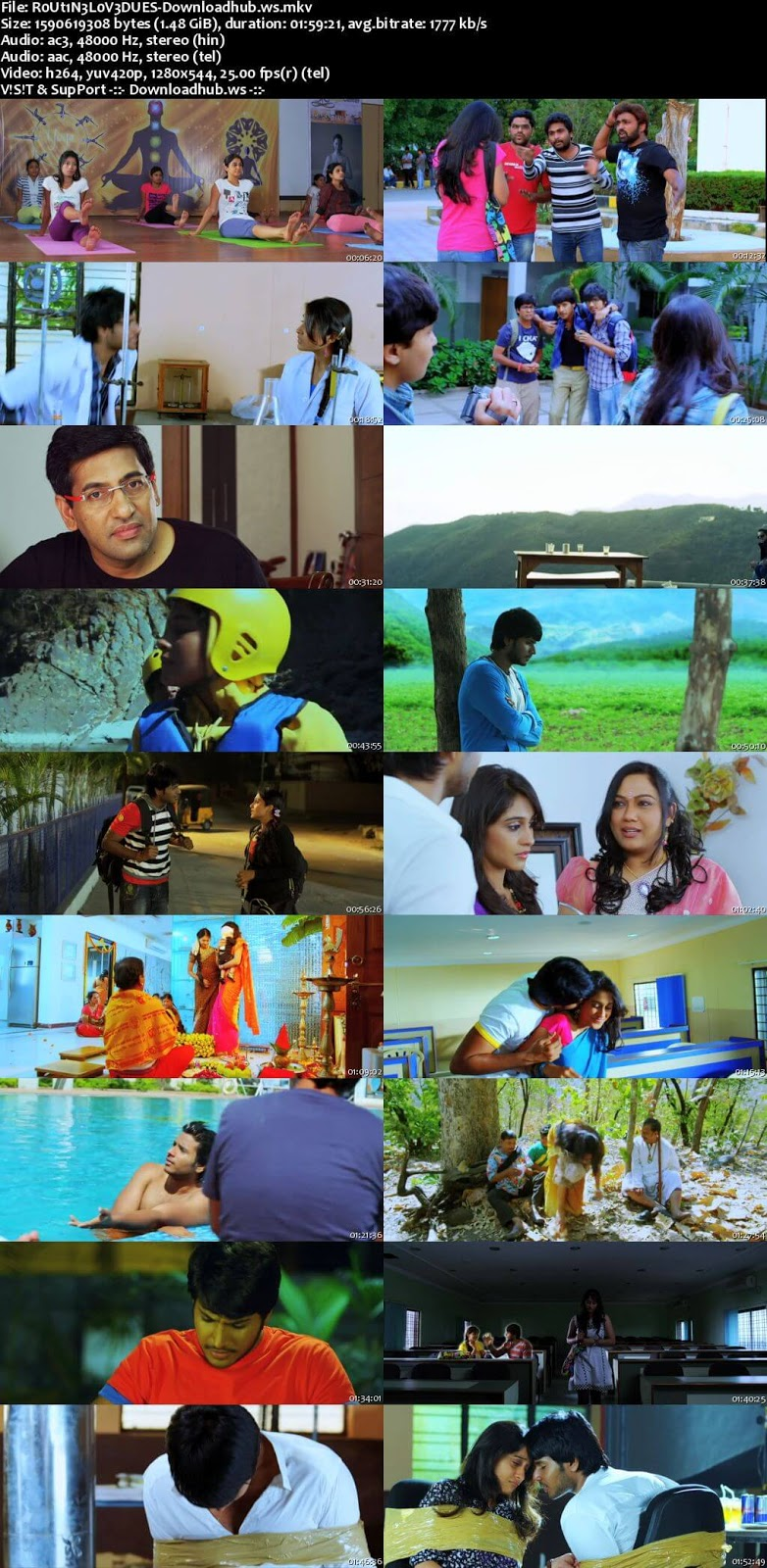 Routine Love Story 2012 UNCUT Hindi Dual Audio 720p BluRay Free Download