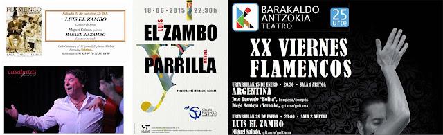 LUIS EL ZAMBO EN CAS PATAS, CÍRCULO FLAMENCO DE MADRID, EN BARAKALDO
