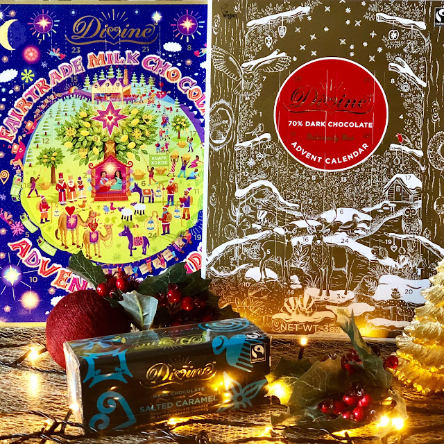 Divine Chocolate advent calendar and salted caramel dark chocolate thins, 17 ways to survive the Christmas preparations, Mandy Charlton Photographer, Writer, blogger