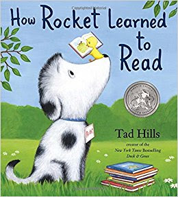 Rocket learns to read, just like our students.