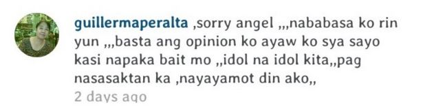 Angel Locsin answered back to a netizen who called Luis Manzano 'silahis'!