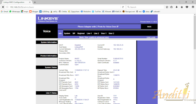 Konfigurasi Linksys PAP2-NA Phone Adapter dengan Mesin Fax-anditii.web.id