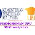 Permohonan UPU Fasa 1 Fasa 2 2017/2018