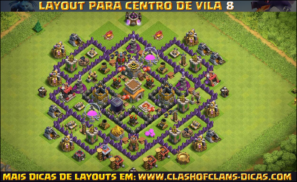 layouts de centro de vila 8 para clash of clans clash of clans dicas