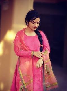 Aarya Ambekar in pink