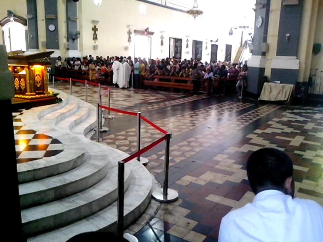 Attend the mass at Our Lady of Manaoag Church