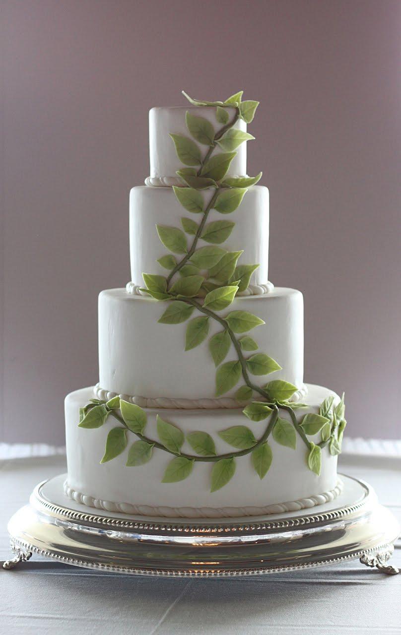Leaves Wedding Cake The Couture Cakery