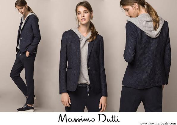 Crown Princess Mary wore Massimo Dutti polka dot print jacket