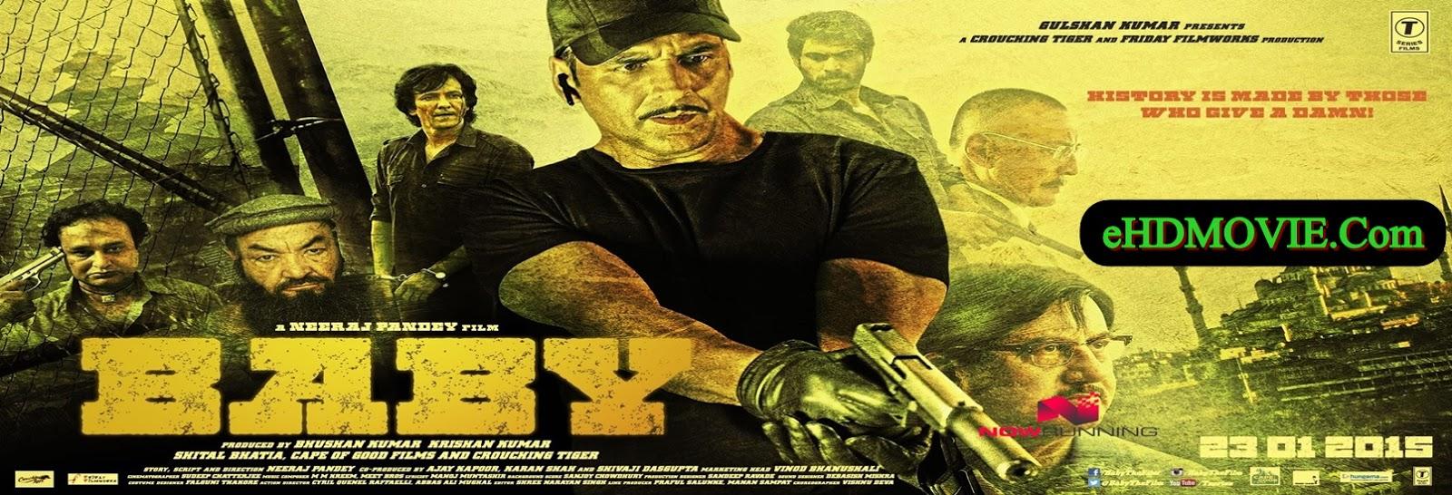 Baby 2015 Full Movie Hindi 720p - HEVC - 480p ORG BRRip 400MB - 450MB - 600MB - 1.1GB ESubs Free Download