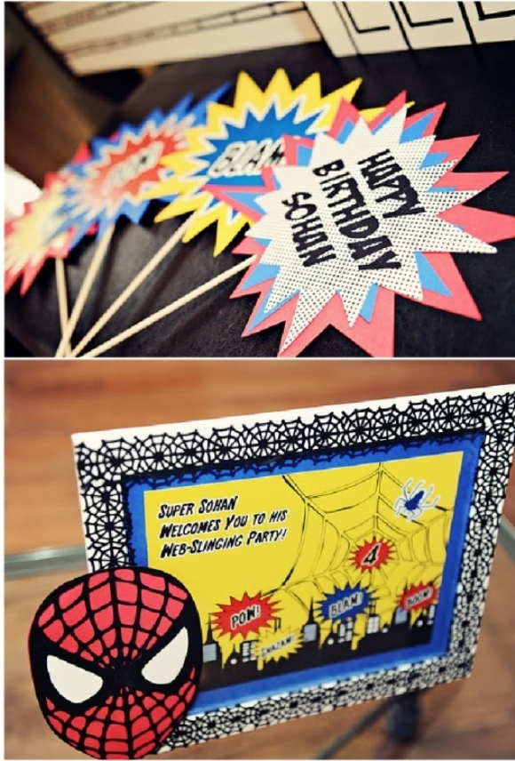 Spiderman Inspired Super Hero Birthday Party  - via BrdsParty.com
