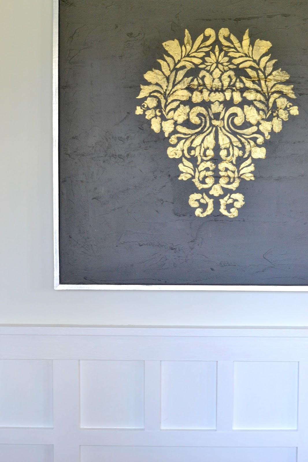LiveLoveDIY: DIY Gold Leaf Painting