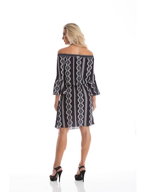 Loja Recco Vestido de crepe tricot