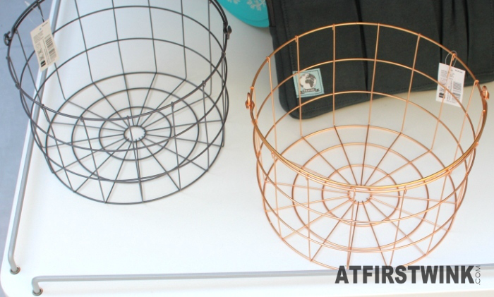 HEMA metal basket and copper basket (small €4, large €6)