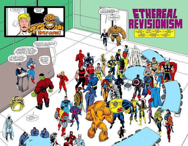 Todos los héroes en la Torre de los Cuatro Fantásticos