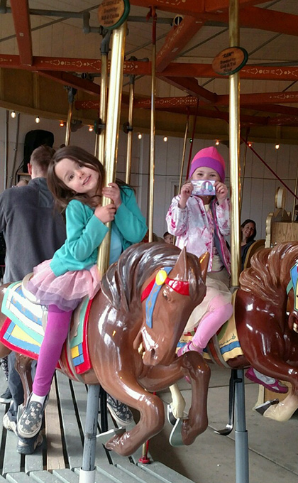 Riding the carousel horses