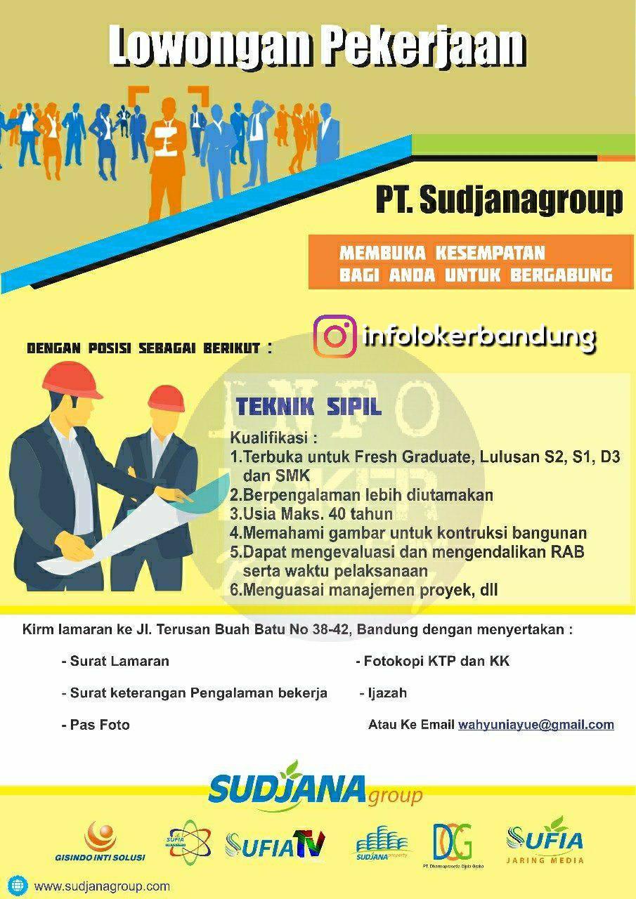Lowongan Kerja PT. Sudjanagroup Bandung Mei 2018
