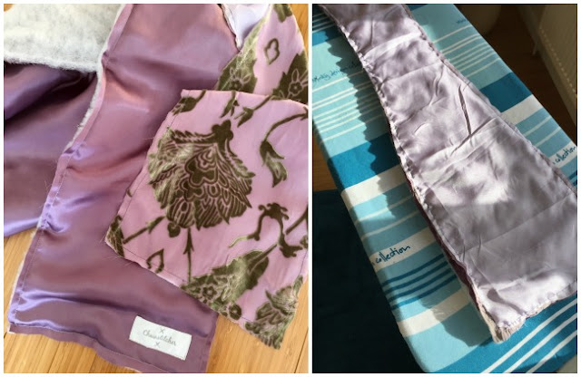 Diary of a Chain Stitcher: Fabrics for Sale Silk Velvet Devoré Scarf