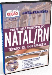 apostila da Prefeitura do Município do Natal-RN TÉCNICO DE ENFERMAGEM