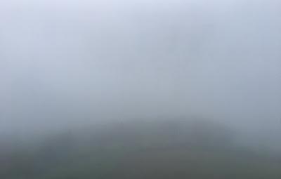 皿倉山展望台からの景色・霧