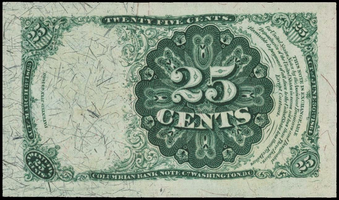 Fractional Currency Twenty Five Cents 1874