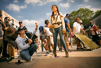 Michael Bay and Isabela Moner on the set of Transformers: The Last Knight (25)