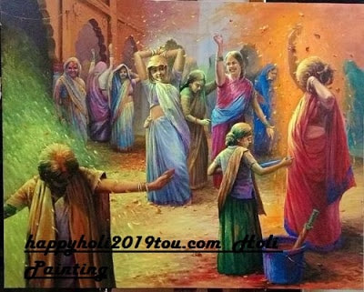 Happy Holi 2019 Painting