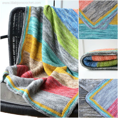 Forest Spirits baby blanket is a very easy knitting project suiteable for beginners. Free pattern by Lilla Bjorn Crochet