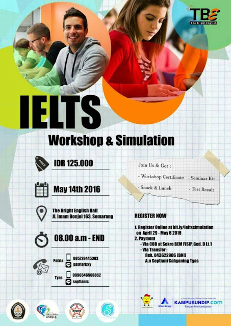 Workshop & Simulation IELTS BEM FISIP Undip