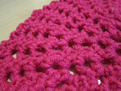 crochet, expanding lace, Red Heart Super Saver