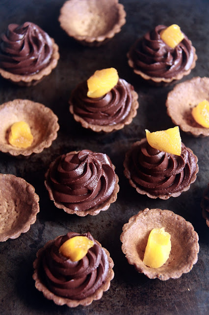 pierre hermé's passionately chocolate tartlets.