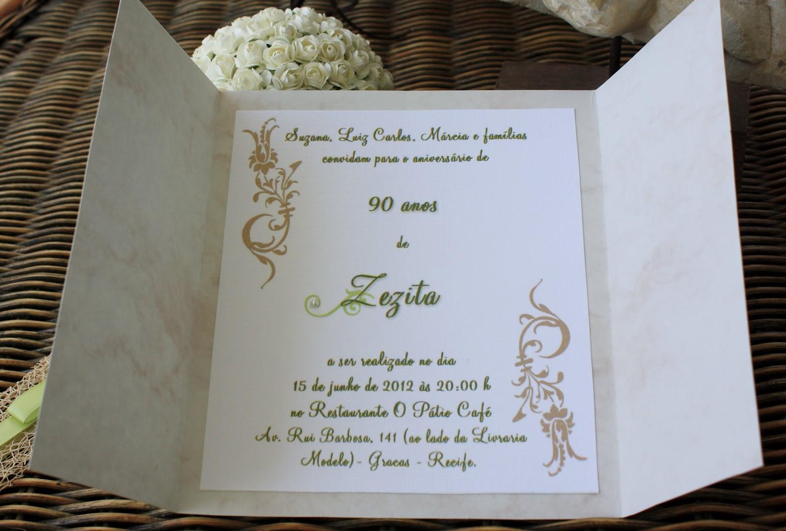 49 Invitaciones Para 90 Años