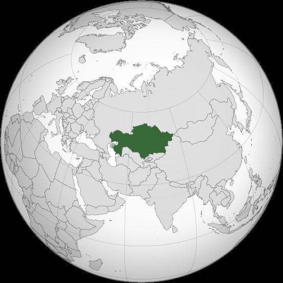 Letak negara Kazakhstan