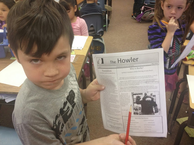 """""""First Graders Offended By School News Article!"""""""
