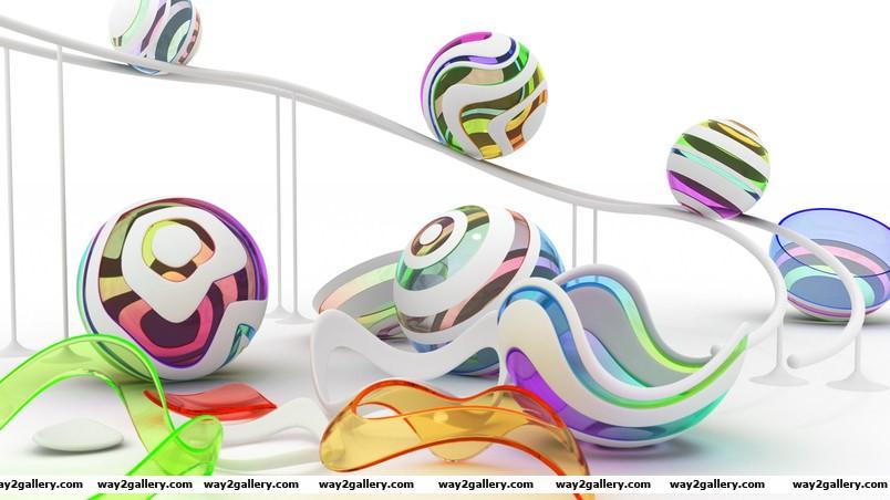 Color figures wallpaper