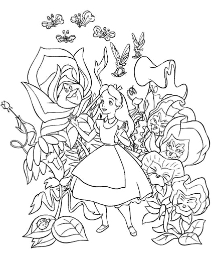 alice in wonderland characters coloring pages - alice in wonderland characters coloring pages coloring pages