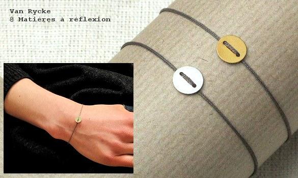 bracelet vanrycke argent le lune mati res r flexion paris. Black Bedroom Furniture Sets. Home Design Ideas