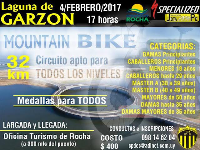 MTB - 2º Desafío Laguna Garzón (Rocha, 04/feb/2017)