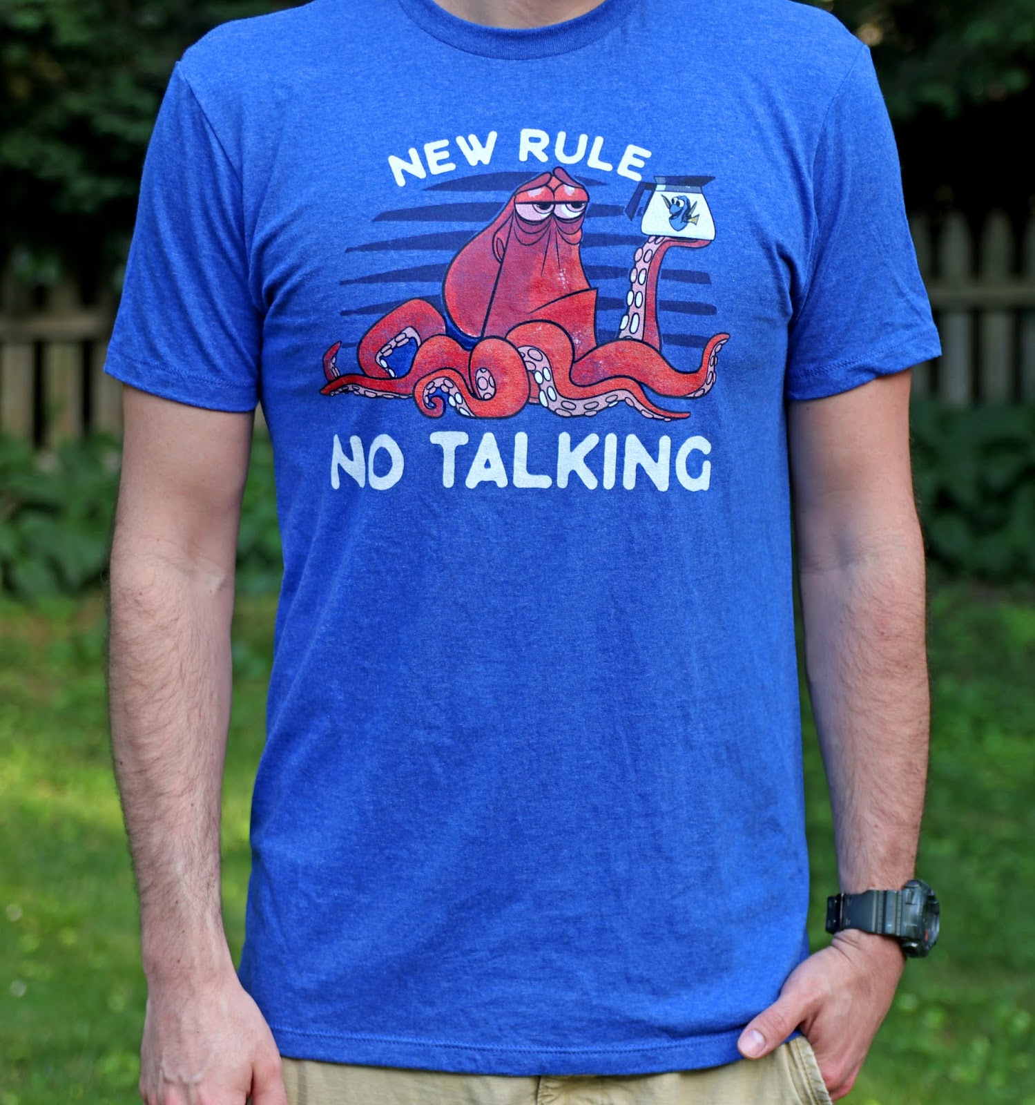 "finding dory hank ""no talking"" tee shirt fifth sun"