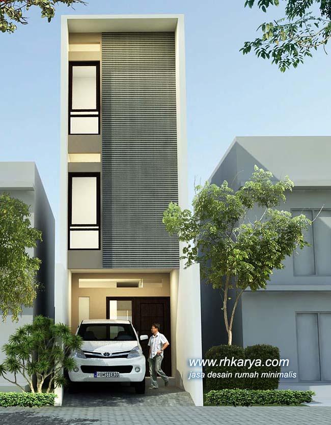 Desain Rumah Lebar 3 Meter 3 Lantai 3 Kamar Tidur PARTUKANG