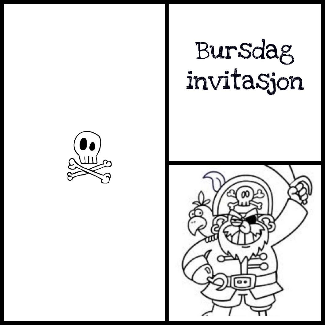 Bursdag invitasjon