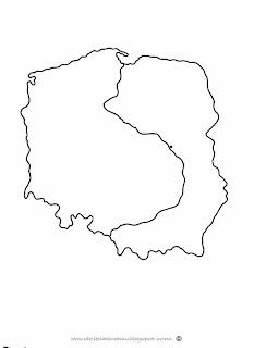 mapa polski kontur szablon