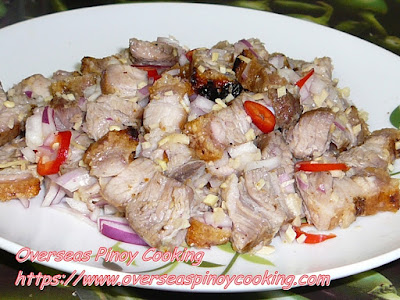 Ilokano Broiled Pork Tossed with Ginger and Onion in Vinegar