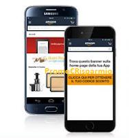 Logo Nuovo accesso Amazon App: ricevi buono sconto da 5 euro