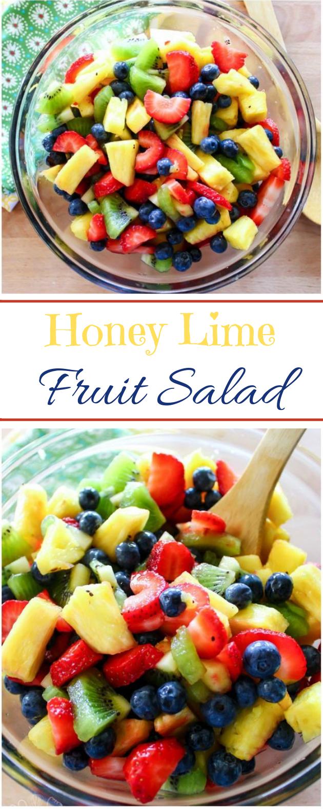 Honey Lime Fruit Salad #vegatarian #salad