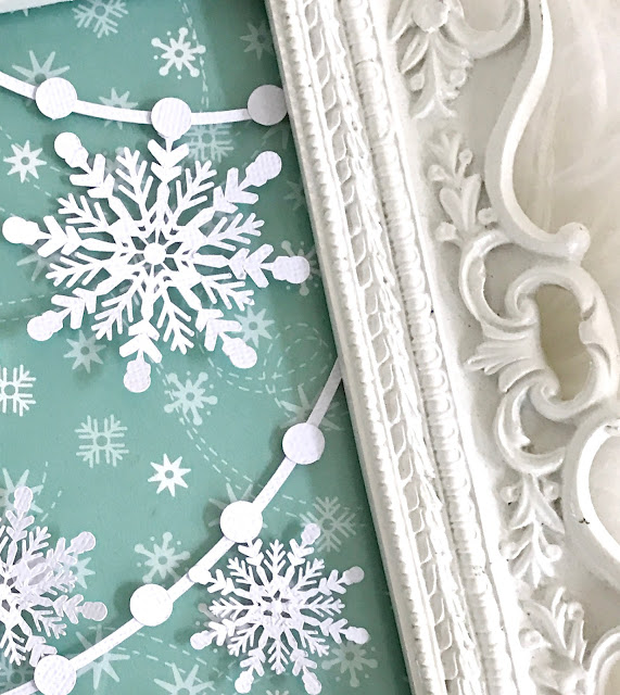 Let it Snow Snowflake Garland Cut File