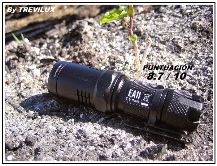 Nitecore EA11 review by Trevilux for luxlinternas.blogspot.com.es
