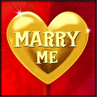 'Marry me' text on gold heart free image for texting