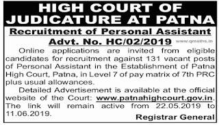 Patna High Court Recruitment 2019